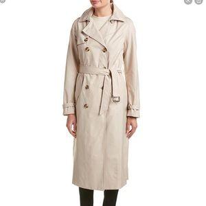 T Tahari Lauren Maxi Trench Coat XS